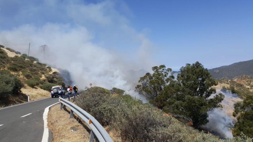 Incendio en Artenara.