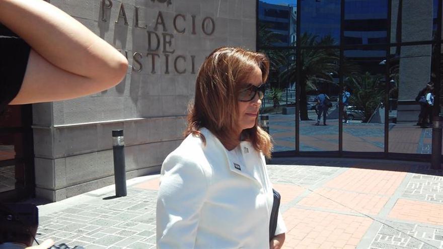 La exdirectora financiera de Radio Televisión Canaria (RTVC), Lourdes Reyes. (EUROPA PRESS)