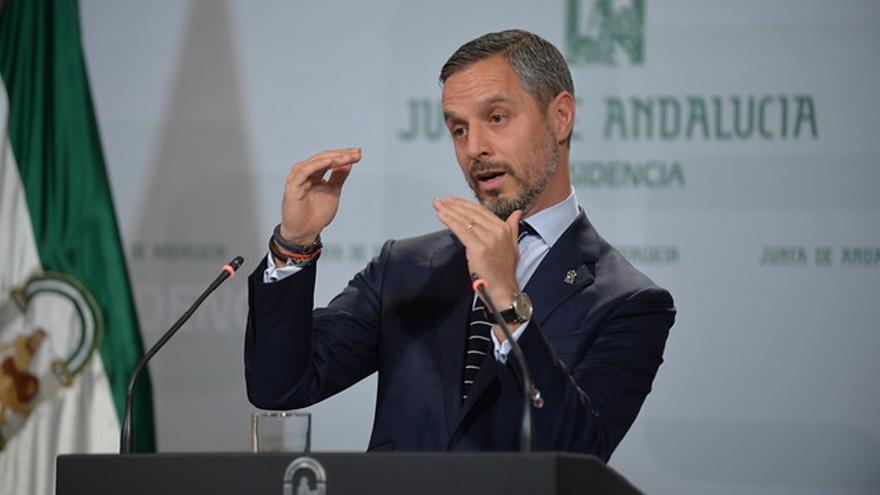 El consejero de Hacienda del Gobierno andaluz, Juan Bravo.
