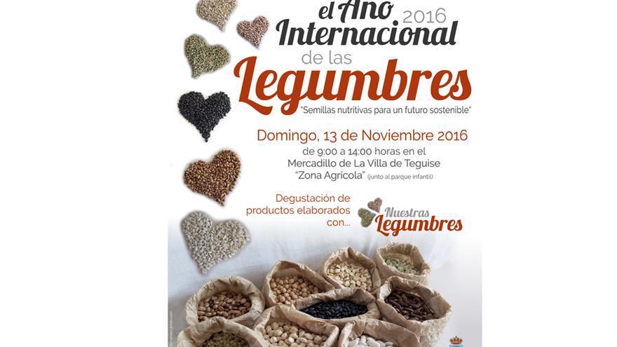 Cartel de Teguise sobre la celebración del Día Internacional de las Legumbres.