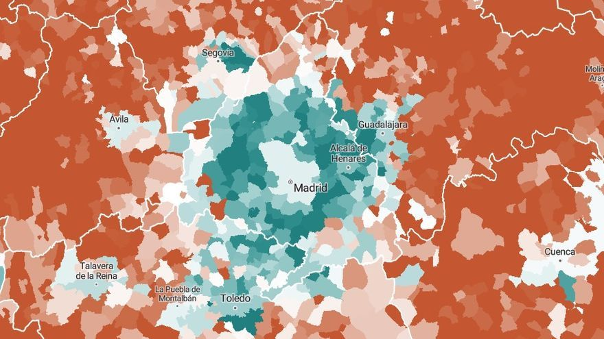 Evolución de la población en Madrid y su entorno en las últimas dos décadas