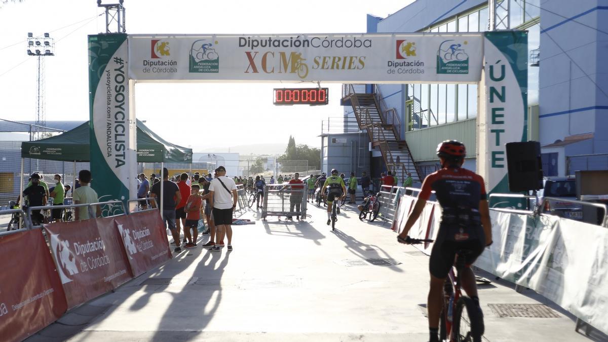 Imagen de la prueba ciclista en la que participaba el fallecido.