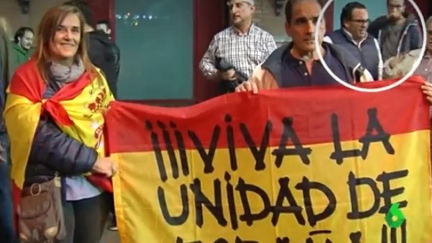El concejal Javier Úbeda Liébana en la protesta en Atocha. / La Sexta