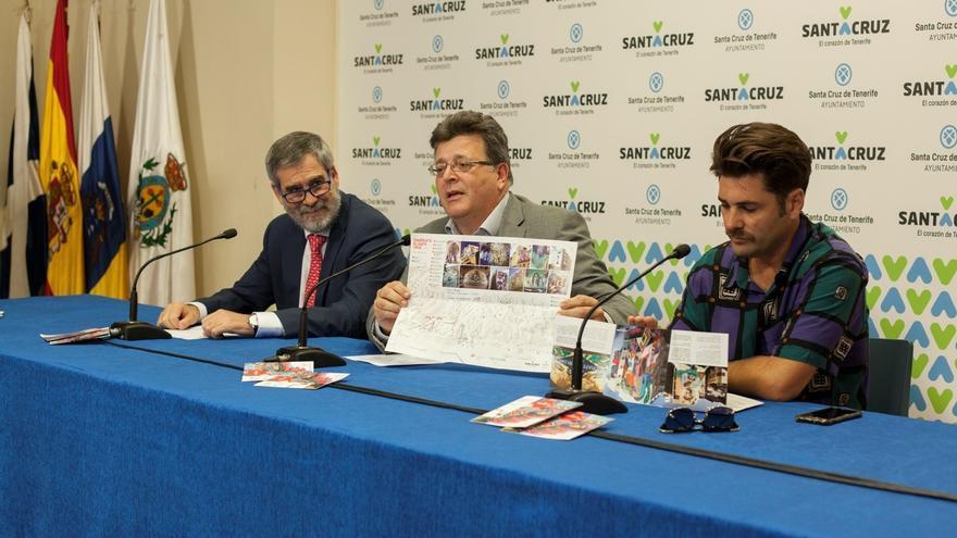 José Manuel Fernández-Sabugo, José Carlos Acha e Íker Muro, este martes en la presentación de la ruta