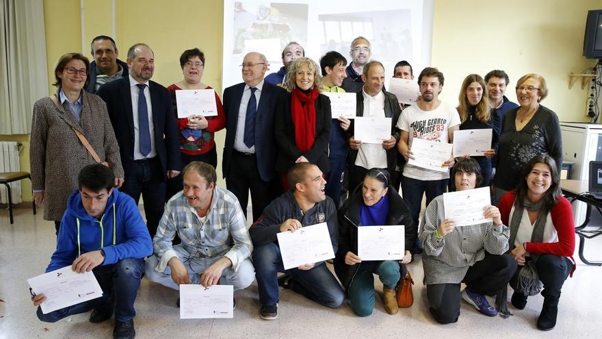 Quince personas con discapacidad se han formado en un taller de cultivo ecológico