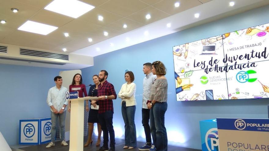 """El PP cree que la Ley de Juventud de Andalucía es una """"tomadura de pelo"""" y """"no resuelve"""" los problemas de los jóvenes"""