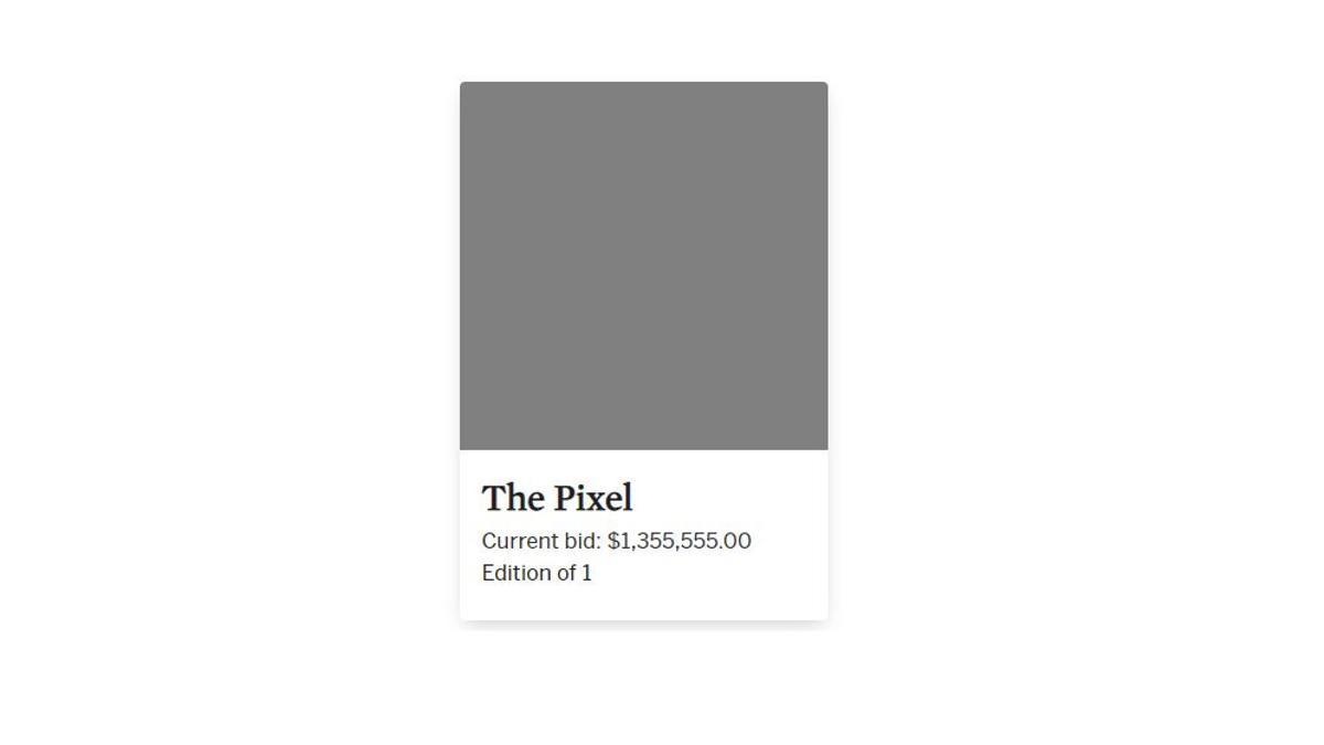 El NFT 'The Pixel' por el que se han pagado 1,1 millones de euros