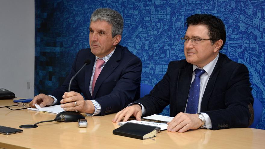 Sabrido (izquierda) y García (derecha), hoy en rueda de prensa