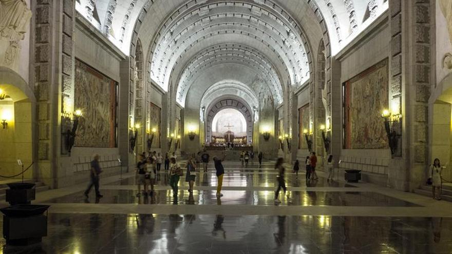 El interior de la basílica del Valle de los Caídos