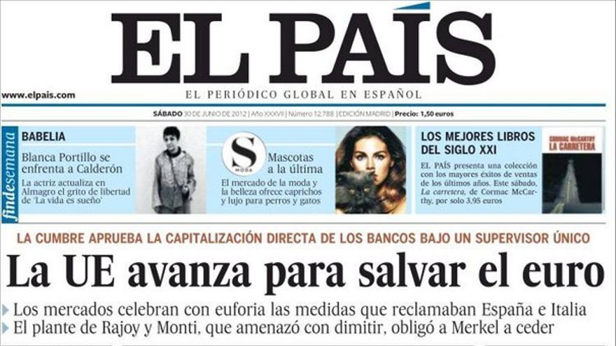 De las portadas del día (30/06/2012) #2