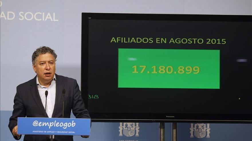 La Seguridad Social pierde 134.289 afiliados en agosto, hasta los 17.180.899