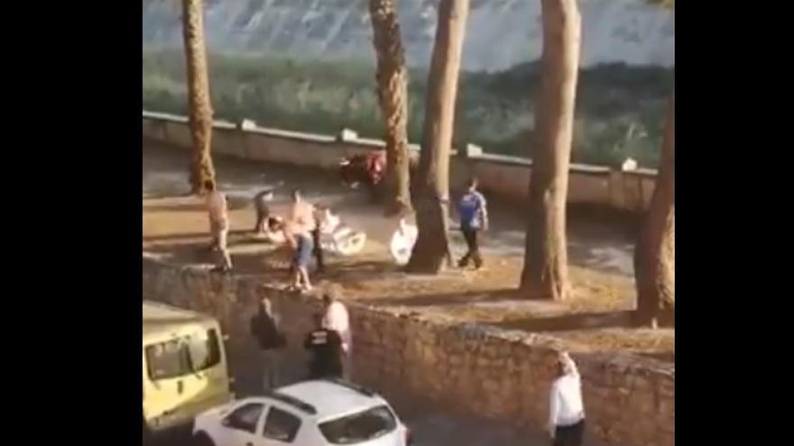 Imagen del abatimiento del novillo en Algemesí