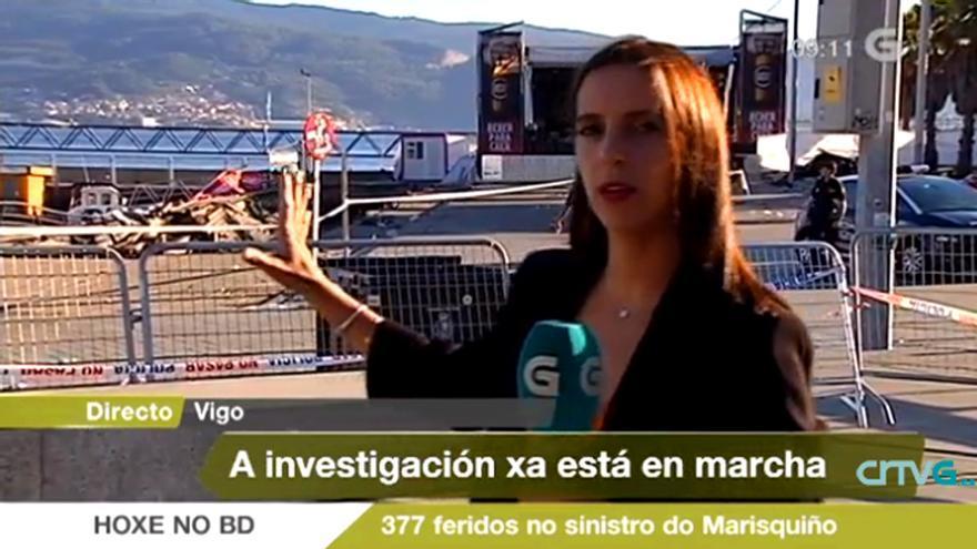 """Respaldo a la TV gallega en su cobertura especial del suceso de """"O Marisquiño"""""""