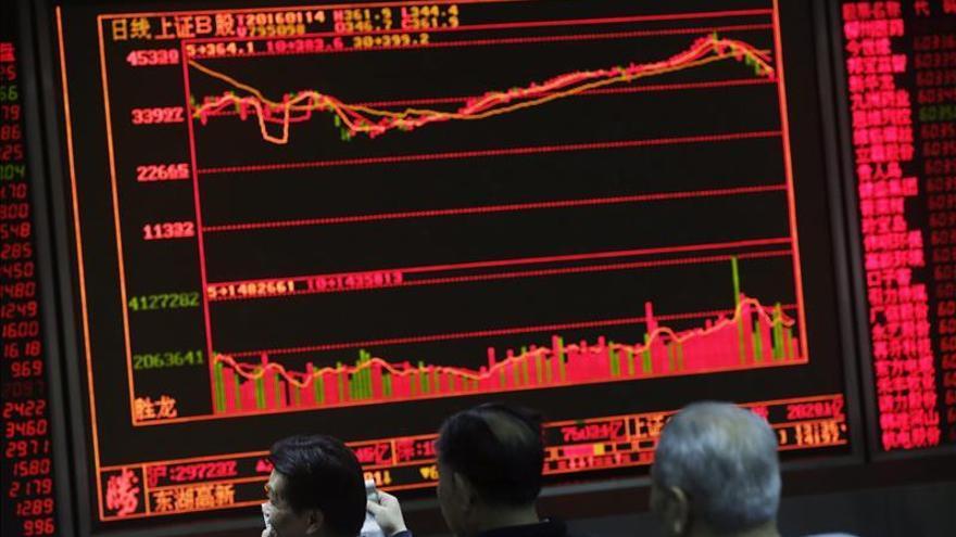 La Bolsa de Shanghái cae un 2,84 por ciento en la apertura