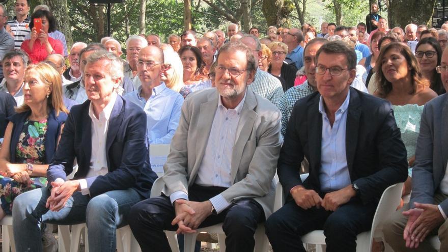 """Rajoy alerta contra un posible """"cuatripartito"""" en Galicia """"inestable, radical y extremista"""""""
