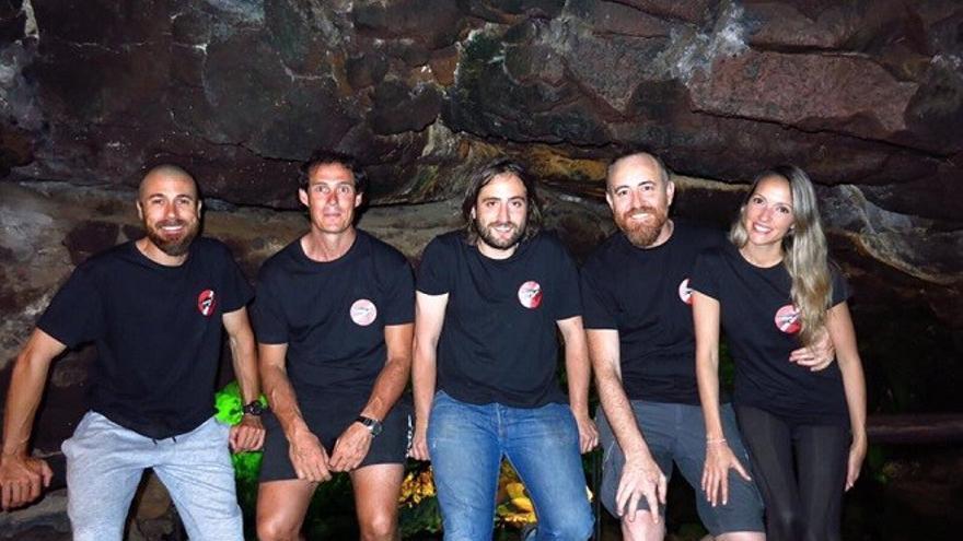 Antonio Martín, Juan Valenciano, Alejandro Martínez, Enrique Domínguez y Carola D. Jorge, algunos miembros del Tiger Team.