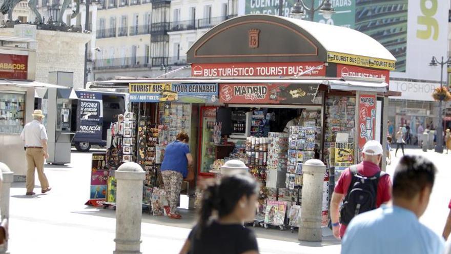 Quiosco de prensa en la madrileña Puerta del Sol.