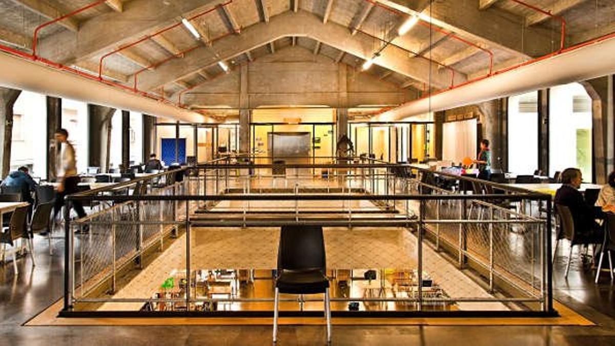 Una de las plantas del edificio de Medialab Prado, en el centro de Madrid.