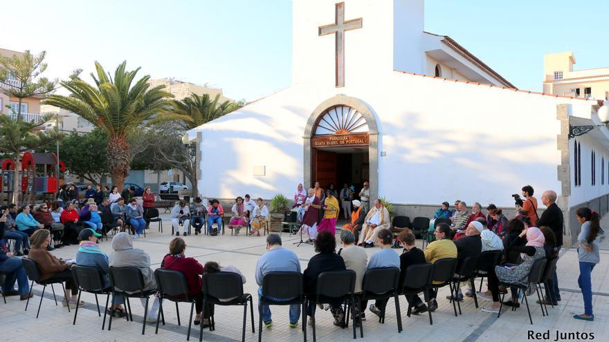 Imagen de archivo de un Rezo Interreligioso en El Fraile, Arona