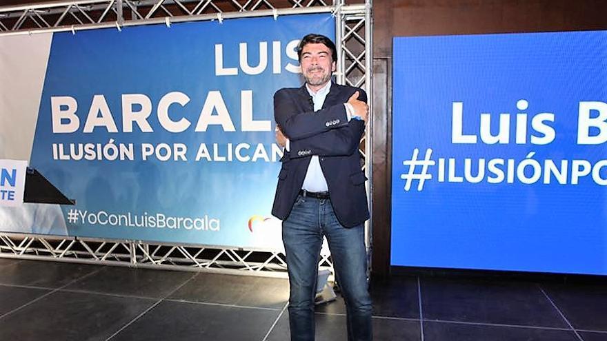 El candidato del PP en Alicante Luís Barcala en un acto el pasado domingo.