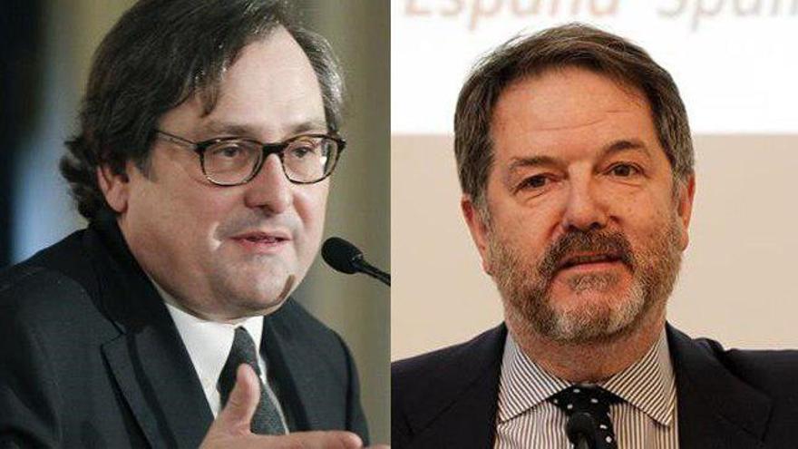 Los directores de La Razón y ABC, Francisco Marhuenda y Bieito Rubido