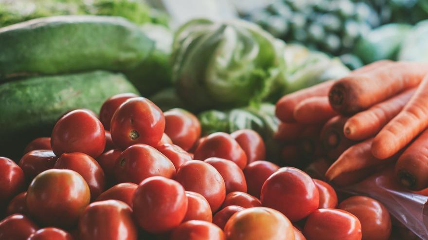 Mercado de verduras y hortalizas