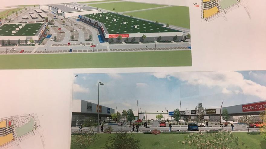 Infografías del proyecto del parque comercial 'Los Patios de Azahara'.