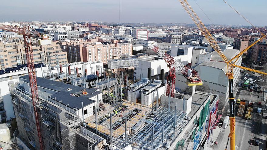 Construcción de un centro de datos en San Blas, Madrid.