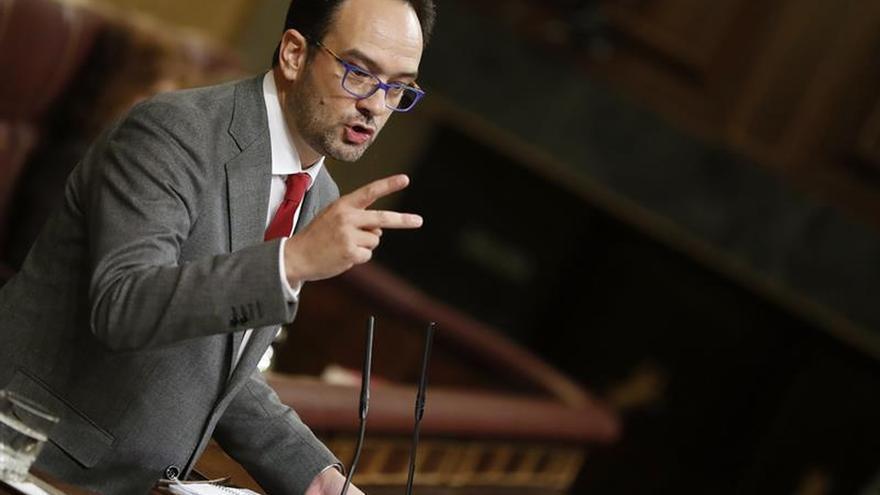 El portavoz del Grupo Socialista en el Congreso, Antonio Hernando.