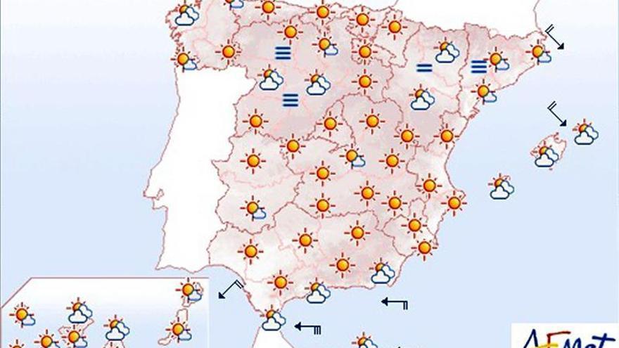 Hoy, levante fuerte y precipitaciones en el Estrecho de Gibraltar