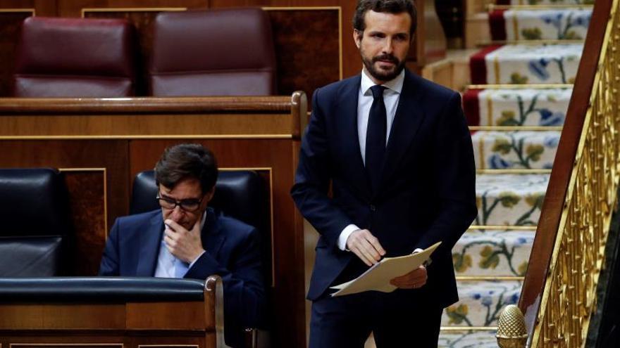 Casado replica a Sánchez que no tiene autoridad moral para pedir unidad.
