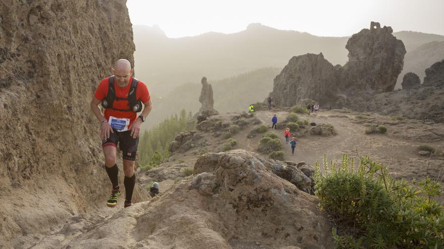Gediminas Grinius durante la prueba de 125 kilómetros (© The North Face® Transgrancanaria®).