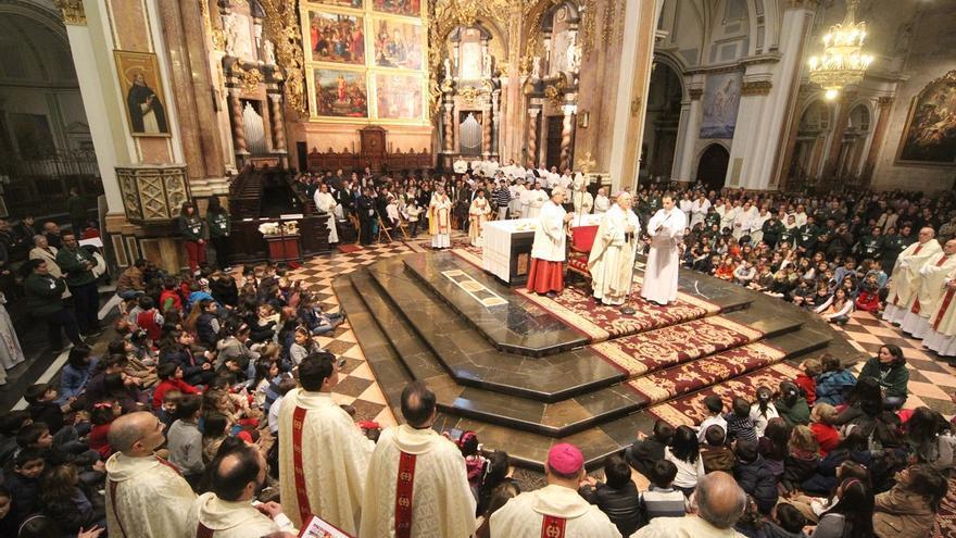 Una misa en la Catedral de València.