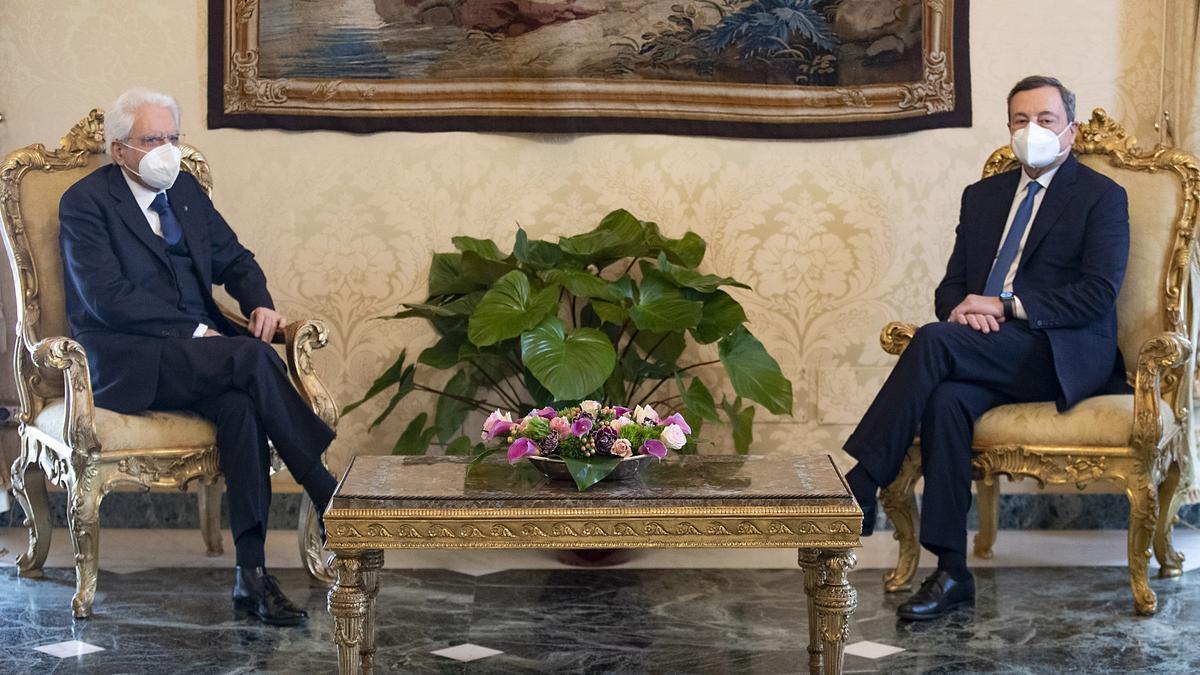 Sergio Mattarella recibe a Mario Draghi