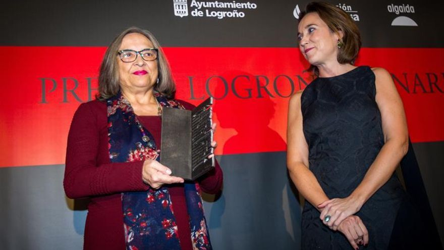 """Milagros Frías, Premio Logroño de Narrativa por """"El corazón de la lluvia"""""""
