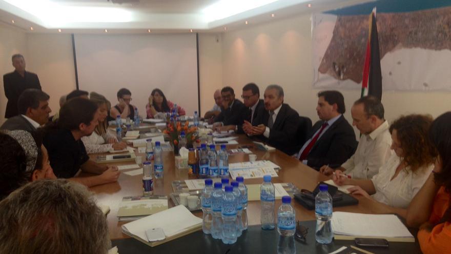 Europarlamentarios de la Izquierda Europea se han reunido con representantes de la Autoridad Nacional Palestina