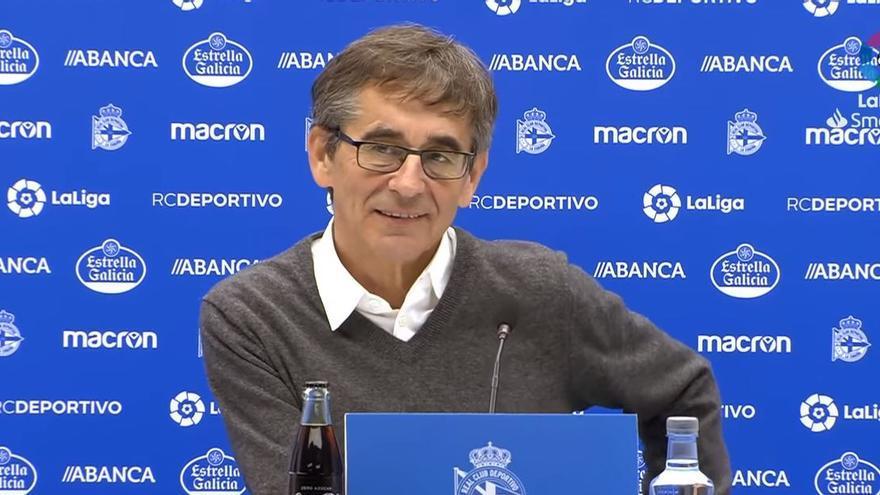 Fernando Vázquez, entrenador del Deportivo de A Coruña