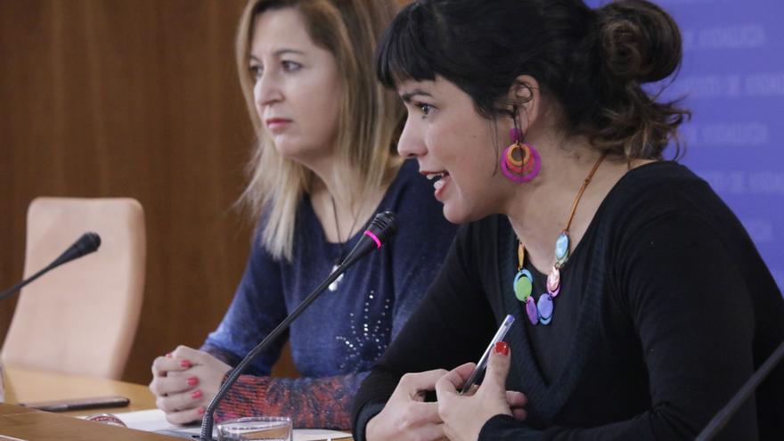 Teresa Rodríguez y Carmen Lizárraga.