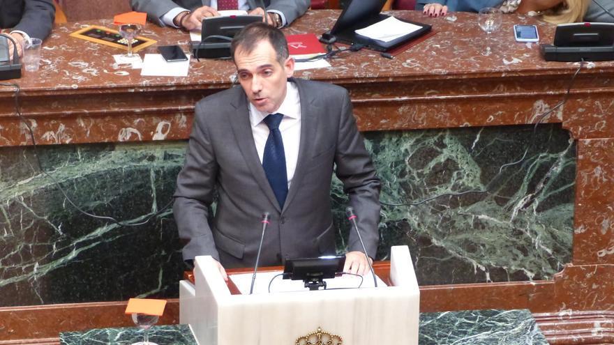 El portavoz de Vox en la Asamblea Regional, Juan José Liarte