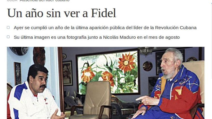 El Mundo un año sin Fidel. \ Perlas