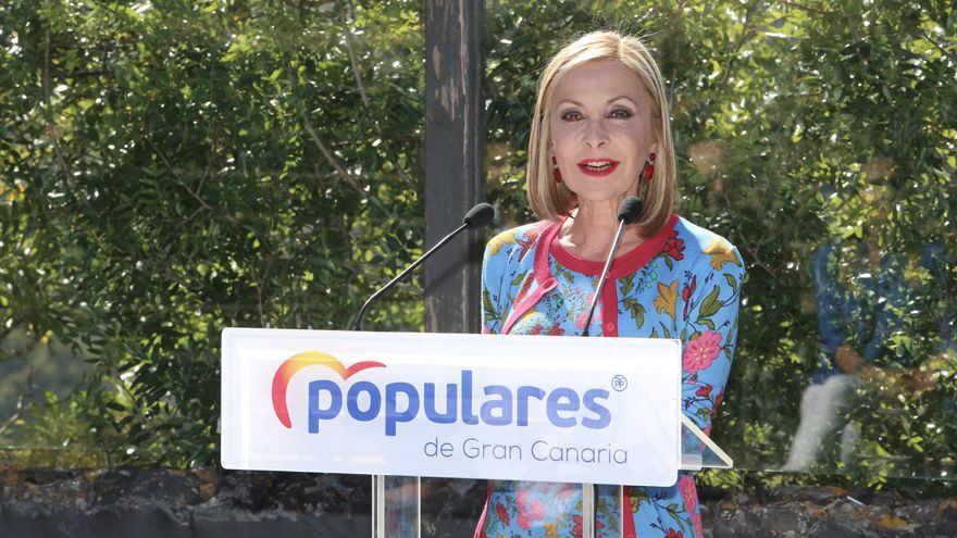 Australia Navarro, presidenta del PP de Gran Canaria en la presentación de la candidatura de Marco Aurelio Pérez al Cabildo de Gran Canaria. (Alejandro Ramos)