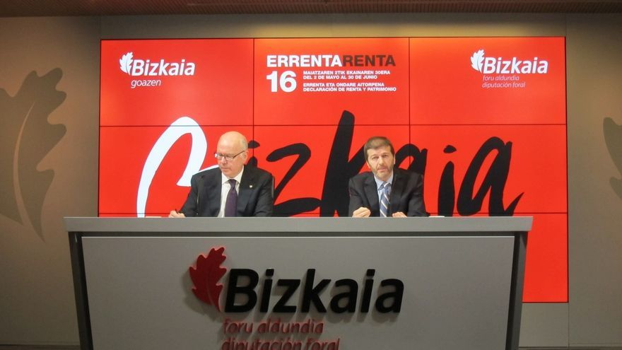 Bizkaia prevé recibir 566.000 declaraciones de IRPF, en las que devolverá 407 millones e ingresará 287 millones