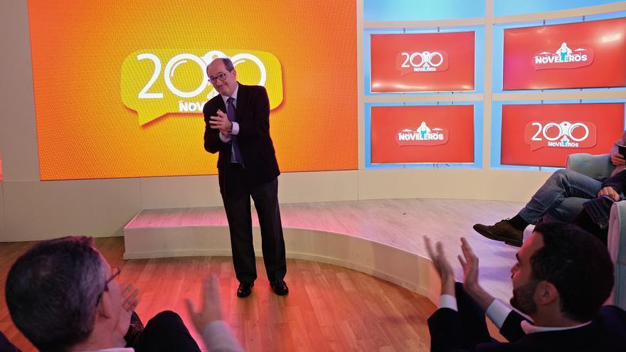 José Carlos Naranjo Sintes, administrador de Televisión Canaria, en la celebración de los 200 programas de 'Noveleros'.