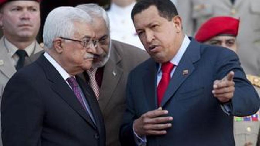 """Chávez defiende """"el Estado de Palestina"""" en su reunión con Mahmud Abbas"""