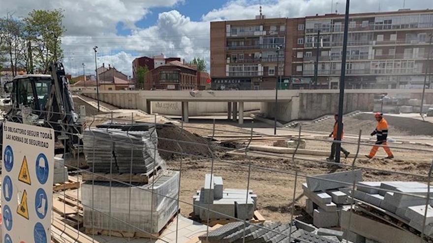 Las obras del túnel en el barrio Pilarica.