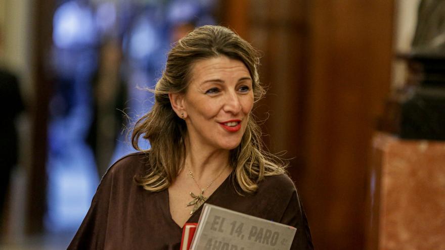 La ministra de Trabajo, Yolanda Díaz, en una imagen de archivo.