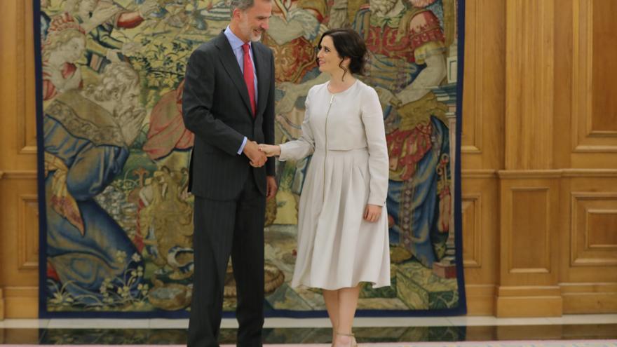 Felipe VI e Isabel Díaz Ayuso en 2019