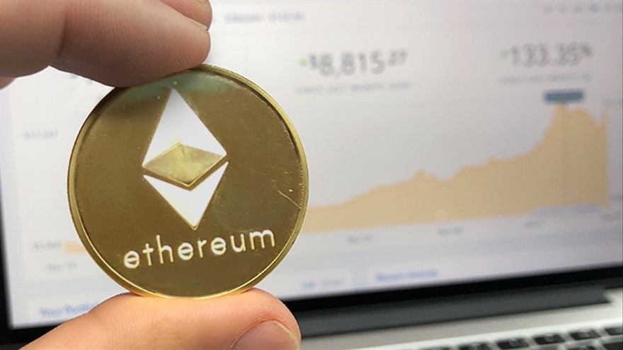 Ethereum, la criptomoneda que rivaliza con el bitcóin.