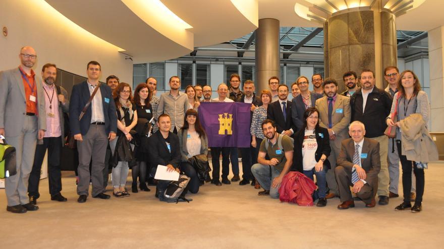 La delegación de diferentes comunidades autónomas que se han reunido esta semana en Bruselas.