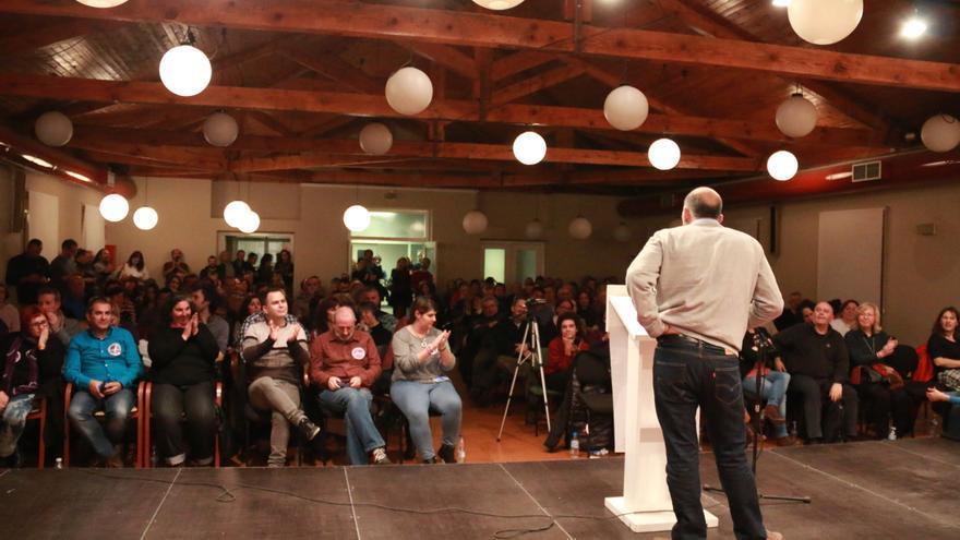 Ariel Jerez en el cierre de campaña de Podemos en Guadalajara